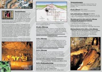 Bergwerks-Flyer - Museums-Bergwerk Schauinsland