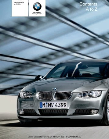 2008 3 Series Owner's Manual - Irvine BMW