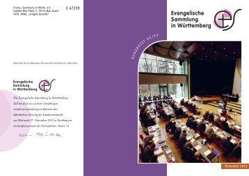 Oktober und Dezember 2013 - Evangelische Sammlung in ...