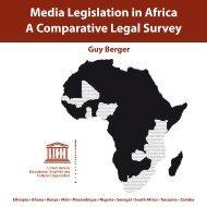 Media Legislation in Africa A Comparative Legal Survey Guy Berger