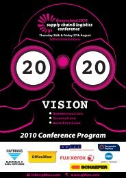 2010 Conference Program - Local Buy