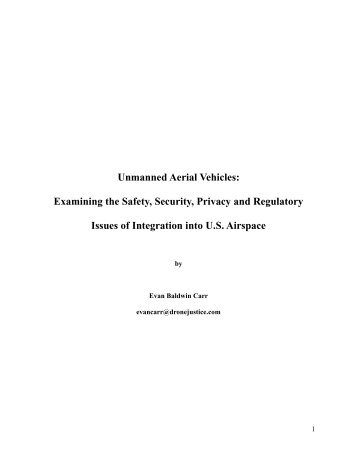 Unmanned Aerial Vehicles - National Center for Policy Analysis