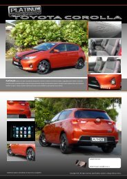 2013 Toyota Corolla - Retro Vehicle Enhancement