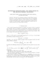 MULTILINEAR EXTRAPOLATION AND APPLICATIONS TO THE ...