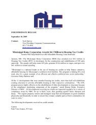 Mississippi Home Corporation Awards $4.3 Million in Housing Tax ...