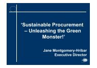 Government Procurement and Sustainability - Local Buy