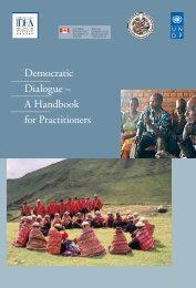 Democratic Dialogue – A Handbook for Practitioners
