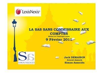 LA SAS SANS COMMISSAIRE AUX COMPTES.PPT - Simon Associés