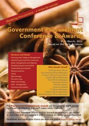 Government Procurement Conference & Awards 9-11 ... - Local Buy