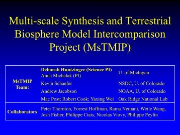 NACP Site Synthesis Analysis - Climatemodeling.org