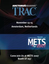 Come Join Us at METS 2007 Booth EF 057 November ... - Thrusters