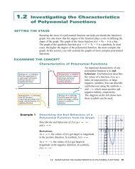 1.2 Investigating the Characteristics of Polynomial Functions