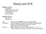 Slang und XTE