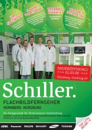 NÜRNBERG · WÜRZBURG - Schiller Flachbildfernseher