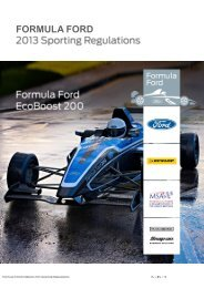 2013 Sporting Regulations - British Formula Ford