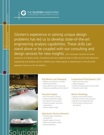 Download Engineering Analysis PDF - The Glosten Associates