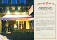 Menu - Christmas in Covent Garden