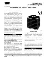 38CKX—50 Hz Air Conditioning Unit Installation and Start ... - Carrier