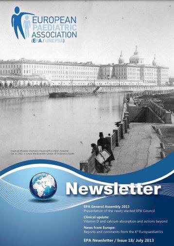 EPA Newsletter / Issue 18/ July 2013 - epa / unepsa