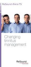 Changing tinnitus management - ReSound