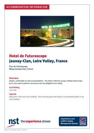 Hotel de Futuroscope Jaunay-Clan, Loire Valley, France - NST