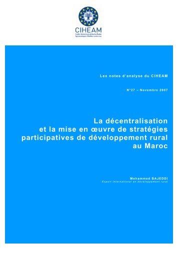 Décentralisation du développement