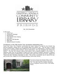 FODSCL Newsletter Sept 2012.pdf - Dripping Springs Community ...