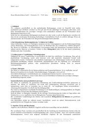 AGB´s zum Download als PDF File - Mayer Hubarbeitsbühnen GmbH