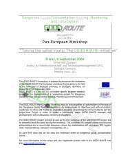 Printable Version of the invitation and the workshop ... - GOOD ROUTE