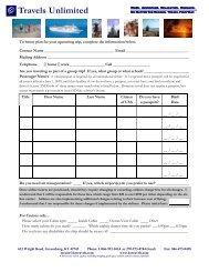 Booking Form.pub - Travels Unlimited