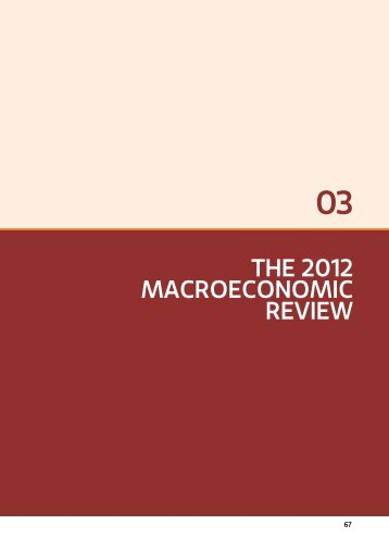 THE 2012 MacroEconoMic rEviEw - Ministry of Finance and Planning