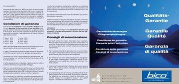 Qualitäts- Garantie Garantie Qualité Garanzia di ... - bei Schlafwohl.ch