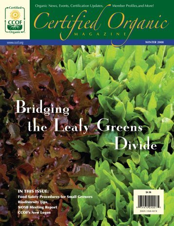 Bridging the Leafy Greens Divide - CCOF