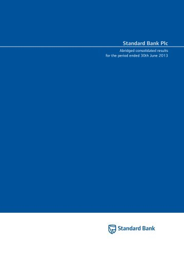 Standard Bank Plc abridged consolidated results for the period ...