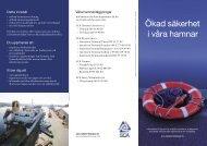 Ökad säkerhet i våra hamnar - SCA Forest Products AB