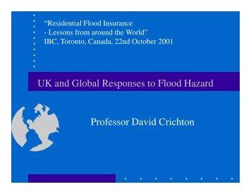 UK and Global Responses to Flood Hazard; David Critchton (PDF)