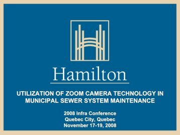 utilization of zoom camera technology in municipal sewer system ...