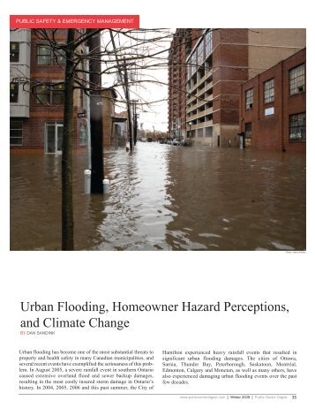 Urban Flooding, Homeowner Hazard Perceptions, and Climate ...