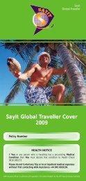 Sayit Global Traveller Cover 2009 - Blue Insurances