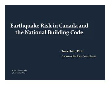 Tuna Onur, Ph.D. Catastrophe Risk Consultant