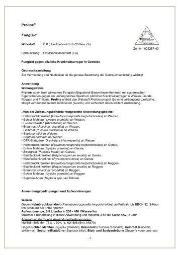 Gebrauchsanleitung Proline - Spiess-Urania Chemicals GmbH