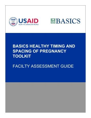 Facility Assessment Guide for Healthy Timing and Spacing ... - basics