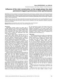 Influence of the rotor construction on the single-phase line start ...
