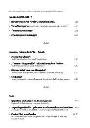 Speisekarte Tiroler Stuben - Schlemmerinfo