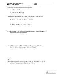 Acid and Base Test 2006 A