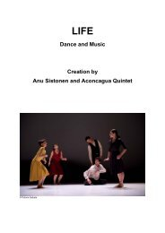 Dance and Music Creation by Anu Sistonen and ... - Le Trois C-L