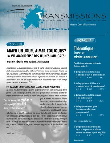 Vol. 5, n o 1, mars 2007 - CSSS de Bordeaux-Cartierville - Saint ...
