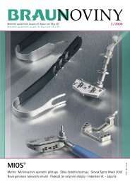 2 / 2006 (PDF, 1 MB) - Braunoviny - B. Braun Medical sro