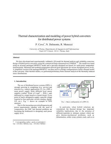 Thermal characterization and modeling of power hybrid converters ...