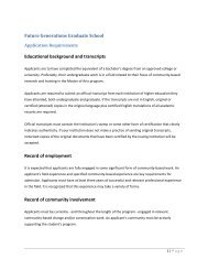 Educational background and transcripts Record of employment ...